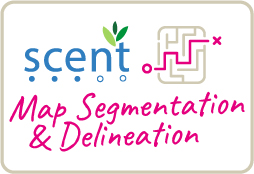 Map segmentation and delineation icon